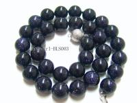 11mm Round Blue Sandstone Beads Necklace BLS003