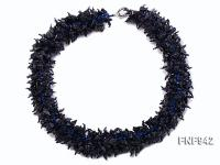 Blue Sandstone Chips Necklace FNF942
