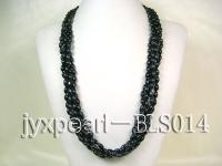Five-strand 6x9mm Oval Blue Sandstone Necklace BLS14